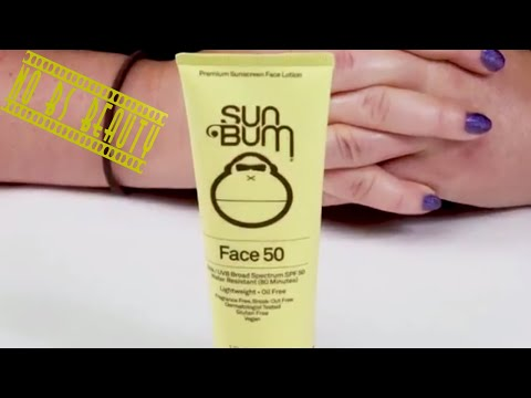 SUN BUM 🌞 Face Sunscreen Lotion SPF 50 Review and Swatch