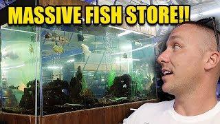 LARGEST AQUARIUM FISH STORE I HAVE EVER SEEN!!!