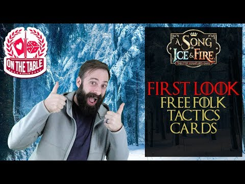 FIRST LOOK: Free Folk Tactic Cards for A Song of Ice and Fire Miniatures Game