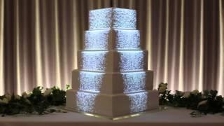 Projection Mapped Wedding Cake - Luma Bakery