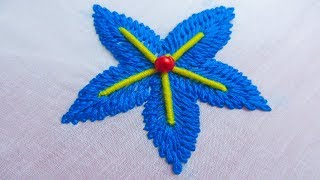 Hand Embroidery Leaf Stitch Free Video Search Site Findclip