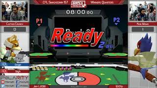 CFL Smackdown 157 Melee - CaptainCrunch (Fox) Vs King Momo (Falco) - Winners Semis