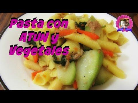 Pasta con Atun y Vegetales SALUDABLE I Lorentix