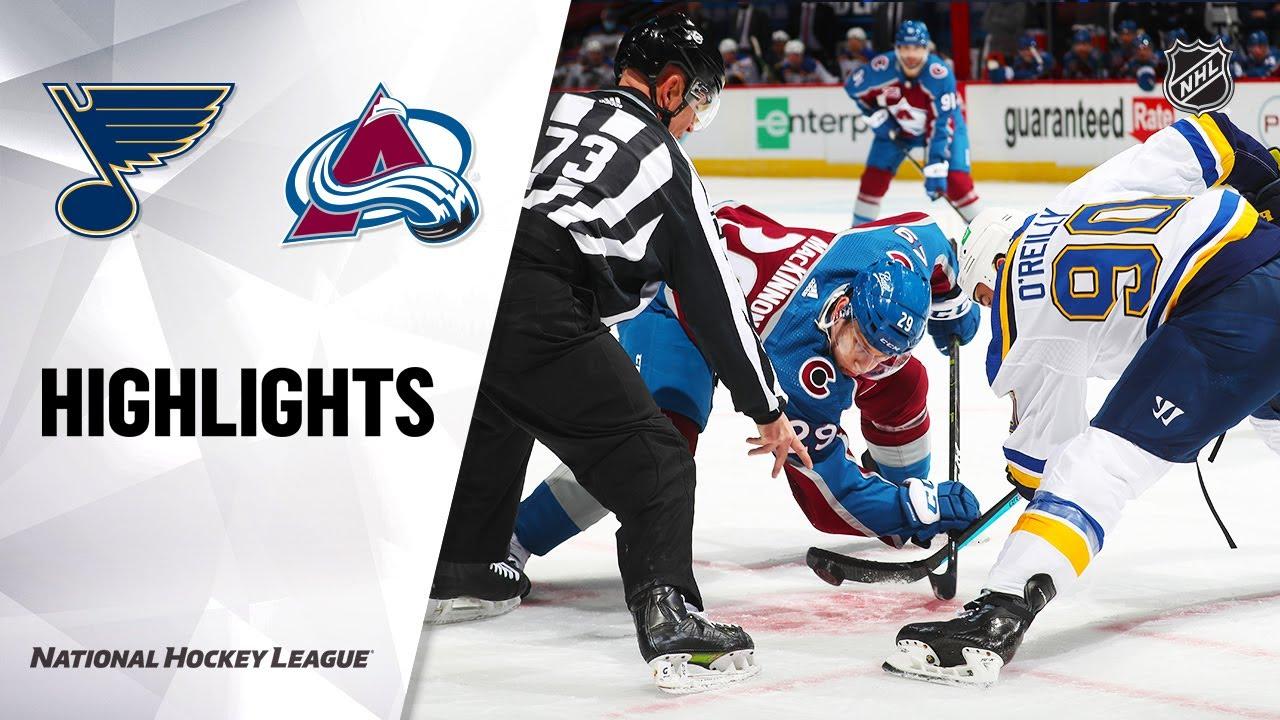Blues vs Avalanche | Friday, January 15, 2021