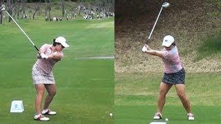[Slow HD] JANG Hana Dual View Driver Golf Swing 2013 (1)_KLPGA Tour