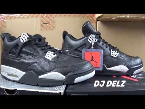 brand new 0530a 82336 ... 1999 VS 2015 Air Jordan Oreo 4 Retro Remastered Shoe Comparison Review  With DjDelz ...
