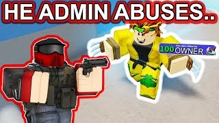 1V1 WITH THE OWNER OF ARSENAL.. | ROBLOX