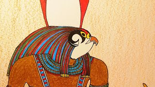 How To Draw Horus - Ancient Egyptian Falcon God