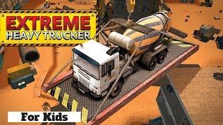 Fun! Extreme Heavy Trucker Parking l Excavator, Dump Trucks, Digger, Concrete Mixer l For Kids