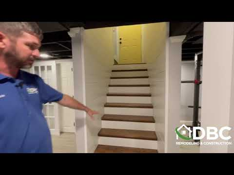 Travis shows Meadville PA Basement Gym and Laundry