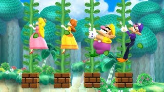 Mario Party 9 Step It Up - Peach win Daisy, Wario, Waluigi Master Difficulty | Cartoons Mee