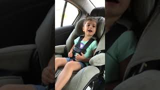 3 year old girl sings Coney Island by Barry Manilow