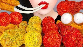 ASMR CHEETOS CHICKEN, CHEESE BALLS 뿌링클 먹방 *직접 만든 뿌링클 치즈볼, 치토스 치킨, 모짜렐라 치즈스틱(레시피) EATING MUKBANG
