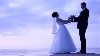 Свадебная прогулка на побережье Азовского моря