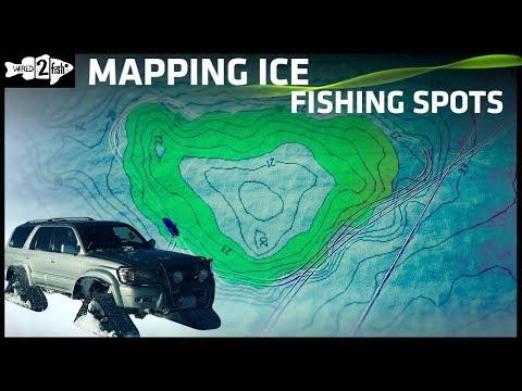 如何用探鱼器水图找到冰钓点