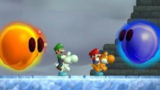 Newer Super Mario Bros Wii Co Op (2 Player) Walkthrough   Part 5   Freezeflame Glacier