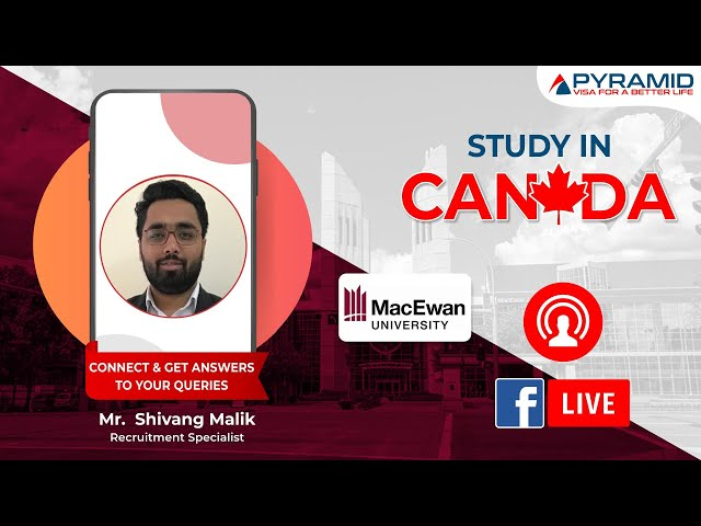 Connect LIVE with Mr. #Shivang Malik from #MacEwan University, Canada!!