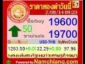 ราคาทองคำวันนี้ 2 ส.ค.2557 + ราคาย้อนหลัง - YouTube