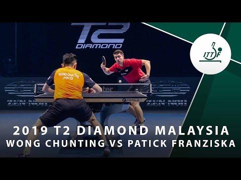 Wong Chun Ting vs Patrick Franziska | T2 Diamond Malaysia (QF)