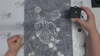Keilrahmen-Uhr ..... Quarz-Uhrwerk in Keilrahmen einbauen ist super leicht.