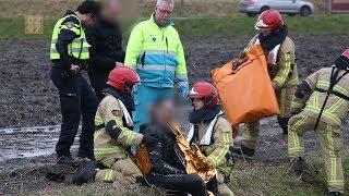 Gelanceerde motorrijder belandt in weiland Uithoorn