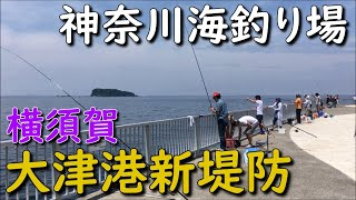 神奈川釣り場横須賀大津港新堤防三春岸壁PELABUHANOTSUKOPORTYOKOSUKAKANAGAWA