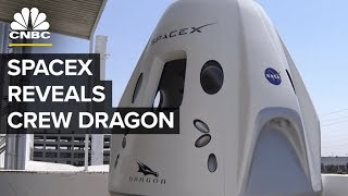 SpaceX Reveals Crew Dragon Capsule To The Public | CNBC
