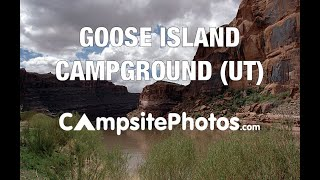 Goose Island Campground, Moab, Utah Campsite Photos