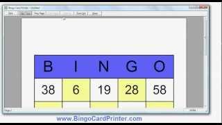 Numbers Bingo Cards - how to create with the Bingo Card Maker by BingoCardPrinter.com