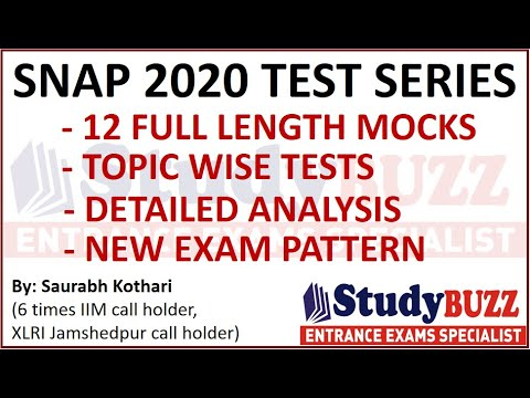 SNAP 2020 test series: 12 full mocks, topic wise practice, detailed ...
