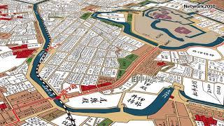 古地図で見る 江戸城下と尾張屋敷[Network2010]