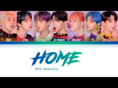 BTS - HOME (방탄소년단 - HOME) [Color Coded Lyrics/Han/Rom/Eng/가사]