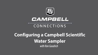 configuring a campbell scientific water sampler