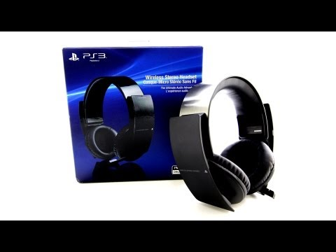 Sony PS3 Wireless Stereo Headset Unboxing (Playstation 3)