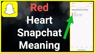 Red Heart Snapchat