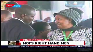 Mzee Moi\'s right hand men continued to pay tribute to Mzee Moi during funeral services