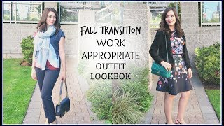FALL TRANSITION WORK APPROPRIATE OUTFIT LOOKBOOK