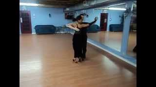 Argentine tango dance practice