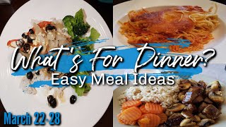 WHAT'S FOR DINNER | MARCH 22-28 | EASY DINNER IDEAS | MANDY IN THE MAKING