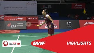 Singapore Open 2019 | Finals WS Highlights | BWF 2019