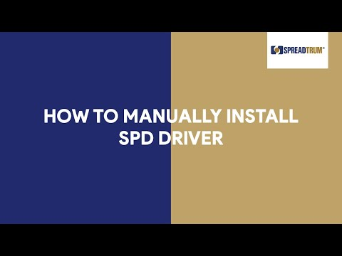 How To Manually Install SPD Driver - [romshillzz]