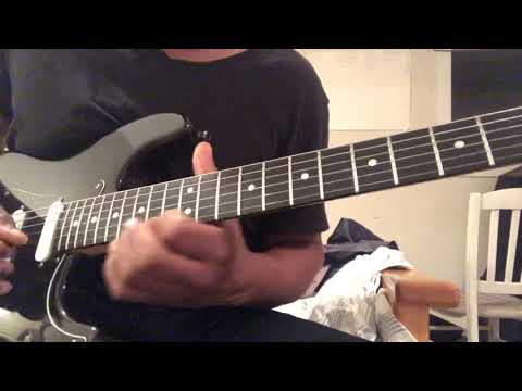 Melodic lead phrasing over Stella Blue chords.