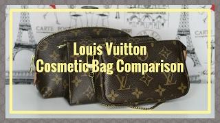Louis Vuitton Comparison Cosmetic Pouch Mini Pochette Toiletry 15  | Red Ruby Creates