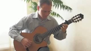 Колокола (А ты опять сегодня не пришла) на гитаре. Фингерстайл.