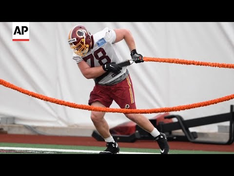 Washington Redskins rookie guard Wes Martin last summer started Brave Breed Rescue to save at-risk dogs and raised over $1,000 for the organization at his pre-draft pro day. (August 1)