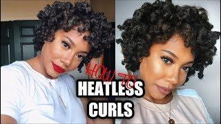 HOW TO: HEATLESS CURLS | 3C/4A HAIR