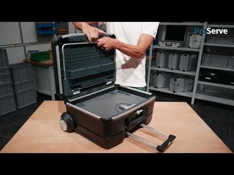 Allit ProServe field service and technician case made of polycarbonate, removable trolley