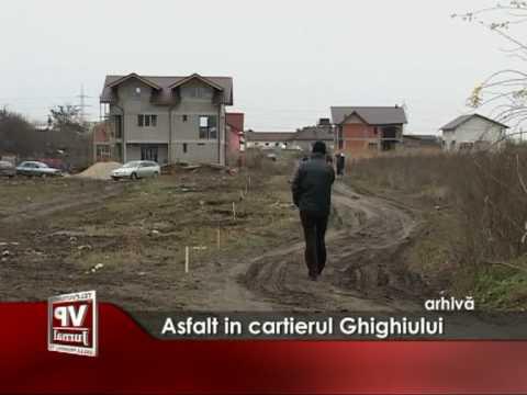 Asfalt in cartierul Ghighiului
