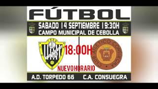 F.F.C.M - Primera Autonómica - Jornada 1 (Grupo 3): A.D. Torpedo 66 1-0 Atlético Consuegra