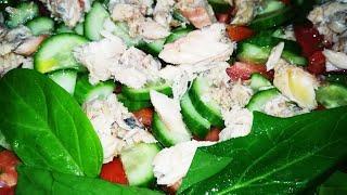Салат с Тунцом Вкусно и Просто.Потрясающе Вкусный Салат!